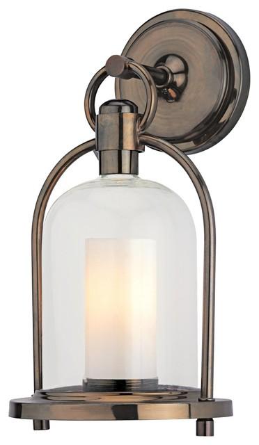 """Denham 14"""" High Indoor-Outdoor Hanging Wall Light traditional-outdoor-lighting"""
