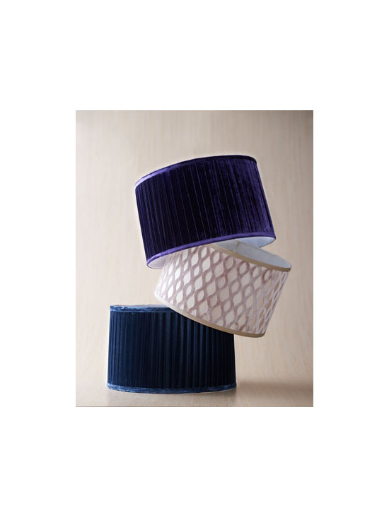 Velvet Lamp Shades - Lamp shades in velvet are such an unexpected, rich addition.