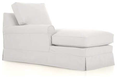 Harborside Slipcovered Sectional Left Arm Chaise contemporary-indoor-chaise-lounge-chairs