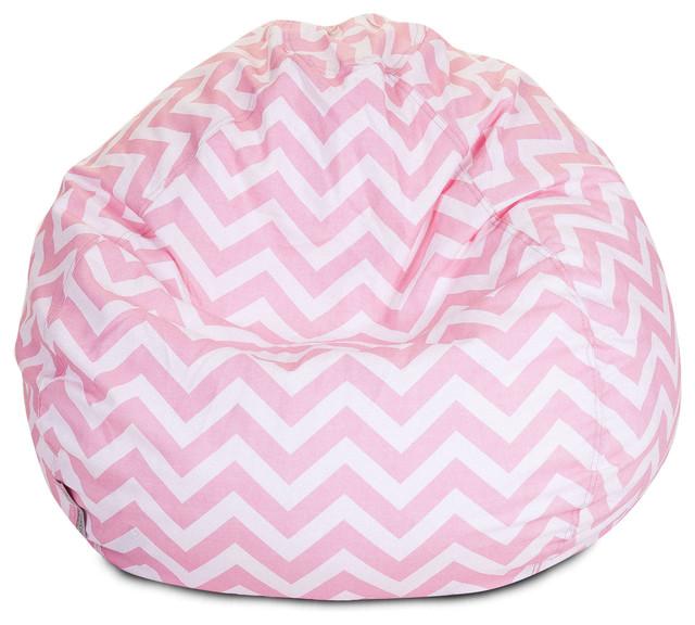 Indoor Chevron Beanbag Baby Pink Contemporary Bean