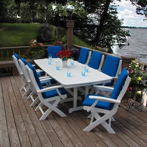 Polywood Recycled Plastic Signature Dining Table Traditional Patio Furniture And Outdoor