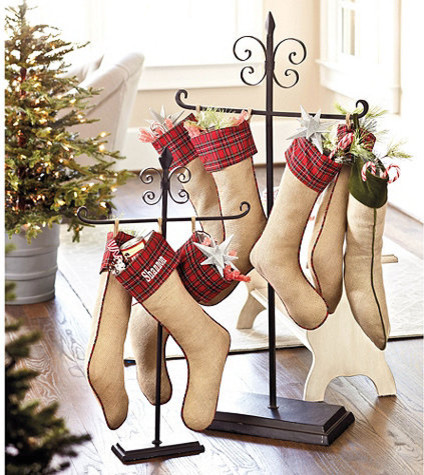 Floor Stocking Holder traditional-holiday-decorations