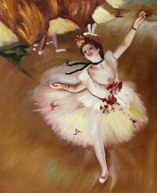 Degas star dancer on stage modern prints and for 1234 dance floor
