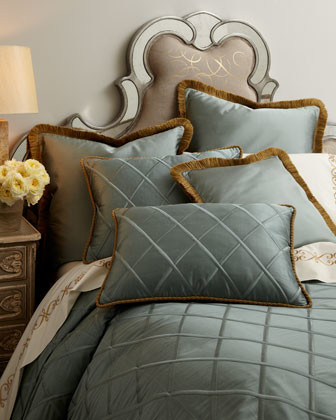 """Dian Austin Couture Home SILK DUPIONI 20"""" SQUARE PLW traditional-sheet-and-pillowcase-sets"""
