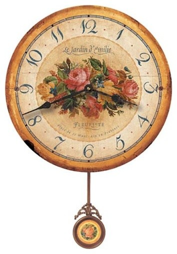Emily's Garden 16 Inch Decorative Wall Clock - Transitional - Wall Clocks - by Expressions of ...