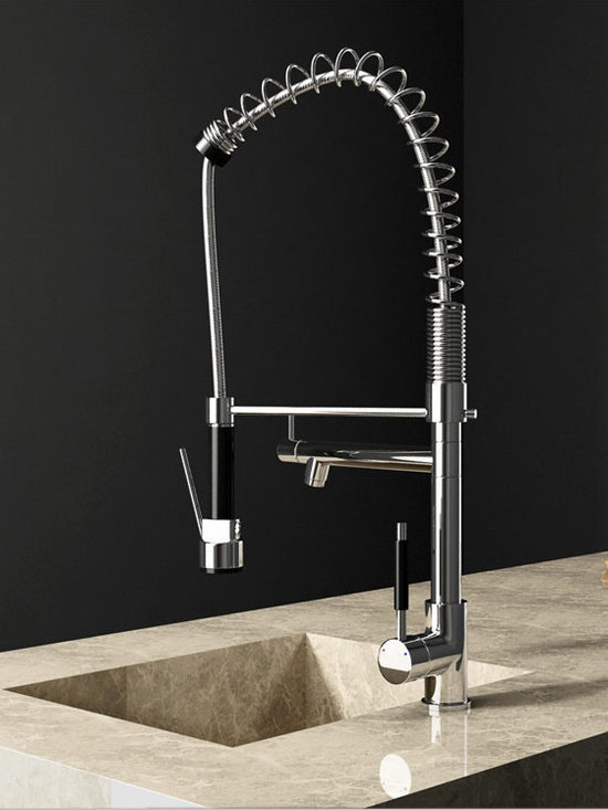 Pull Out Spray Function Kitchen Faucet - Features:
