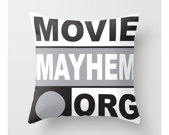 Movie Mayhem Throw Pillow by The Corp -
