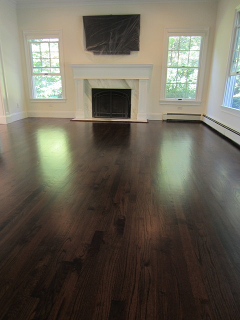 Fort Salonga Red Oak stained Dark Walnut and Satin Oil based poly - Traditional - new york - by ...