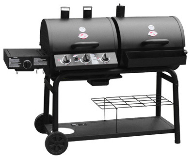 Char-Griller Duo Gas And Charcoal Grill With Side Burner contemporary grills
