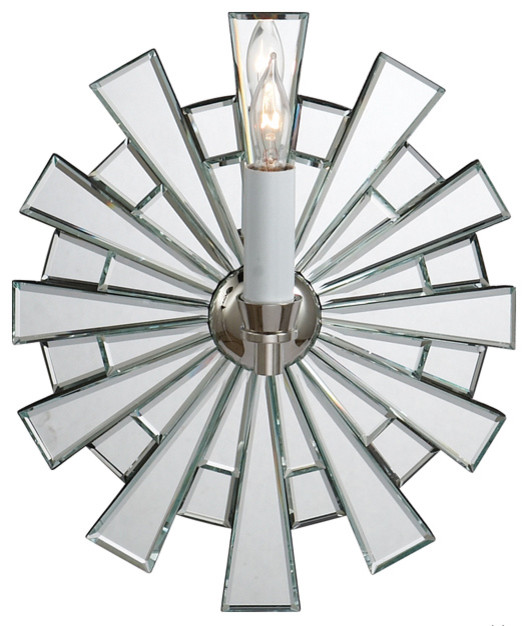 Starburst Mirror Sconce contemporary wall sconces