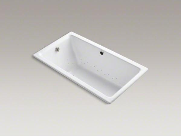 "KOHLER Kathryn(R) 66"" x 36"" drop-in BubbleMassage(TM) Air Bath with Vibrant(R) P contemporary-bathroom-accessories"