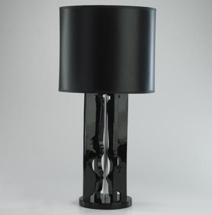 Cyan Black Tortus Lamp traditional-table-lamps