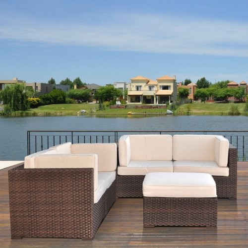 Nice All Weather Wicker Conversation Set - Seats 4 contemporary-patio-furniture-and-outdoor-furniture