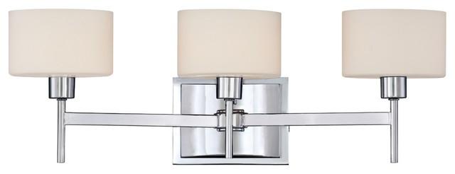 """Contemporary Quoizel Asheton 3-Light 21"""" Wide Chrome Bath Light contemporary-wall-lighting"""