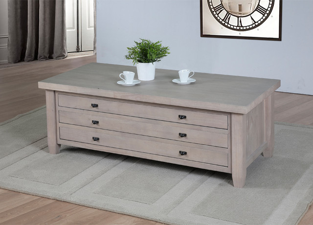 Navigator Dove Grey Coffee Table contemporary-coffee-tables