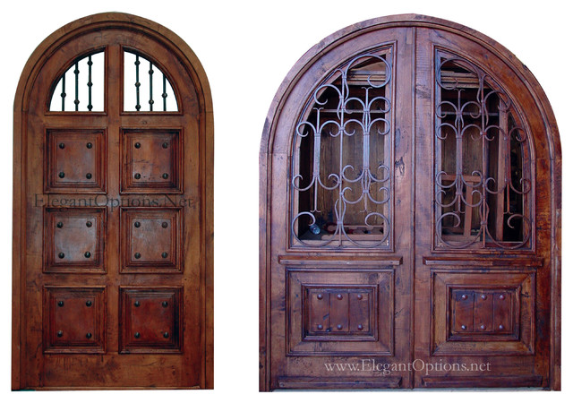 Custom made spanish style entry doors for Traditional front doors