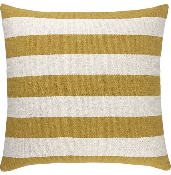 Gold Floor Pillows : Olin Gold Floor Pillow - Traditional - Floor Pillows And Poufs - by Crate&Barrel