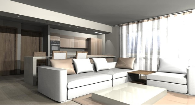 Masculine Suite contemporary-rendering