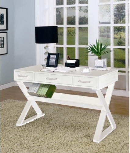 desks desk with three drawers white modern desks and hutches by