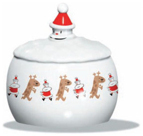 Alessi Let it Snow Biscuit Box modern-holiday-decorations