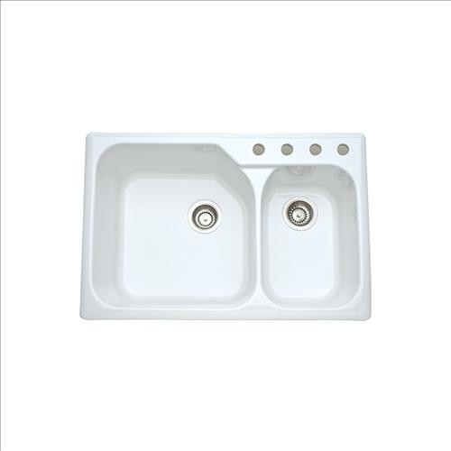 White Drop In Kitchen Sink & Becuo