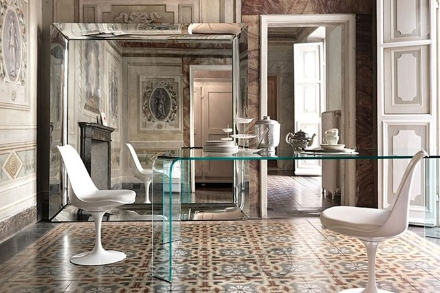 caadre mirror by philippe starck for fiam italia contemporary living room philadelphia. Black Bedroom Furniture Sets. Home Design Ideas