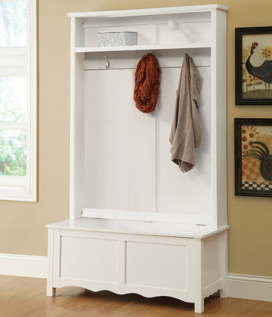Hall Tree White Modern Indoor Benches By Modern Furniture Warehouse