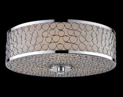 Z-Lite Synergy Two-Light Flush Mount contemporary ceiling lighting