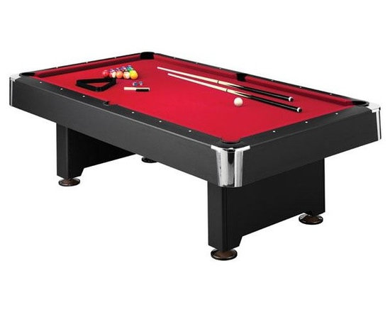 "Masconi Donovan II 8' Slatron Biliiard Table - -3-5/8"" Black Laminate Top Rails with Full Profile K66 Nose Rubber for uniform rebound and high quality game play"
