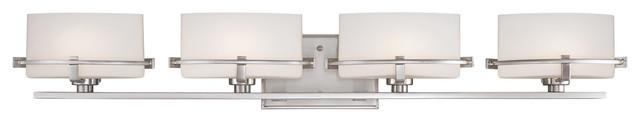 Quoizel NN8604BN Nolan 4 Light Bathroom Vanity Lights in Brushed Nickel transitional-bathroom-vanity-lighting