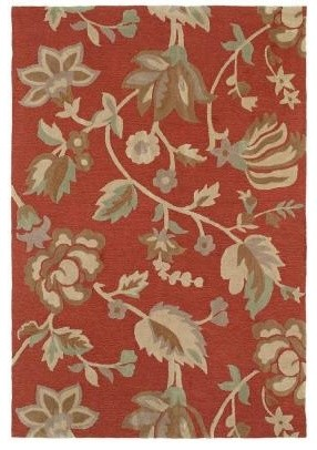 Area Rug: Crowne Baldwin Red 8' x 11' contemporary-rugs