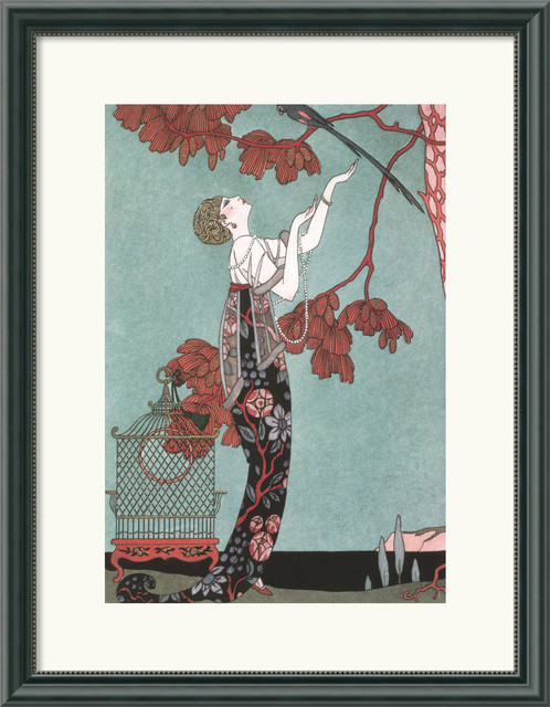 Fashion Illustration, 1914 Framed Print by George Barbier traditional-prints-and-posters