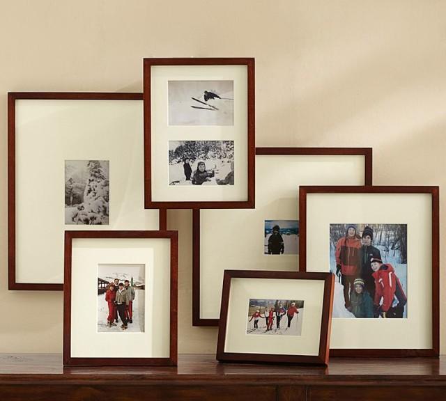 Wood Gallery Oversize Matte Frames, Espresso Stain modern-frames