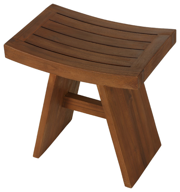 Sofi Shower Stool In Solid Teak Wood Craftsman Shower Benches Seats By Cortesi Home