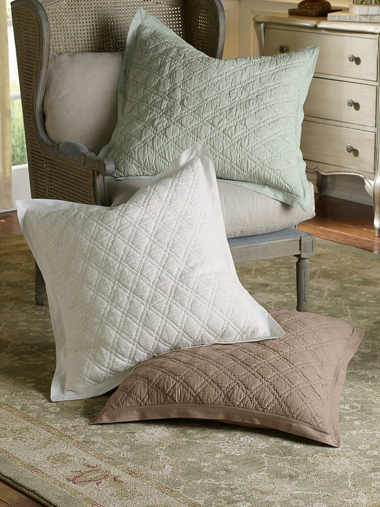 Diamond Quilted Euro Sham - This item is part of the Soft Surroundings Basics Collection.