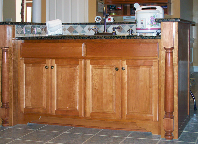 Custom built kitchen islands traditional austin by - Custom made kitchen cabinets ...