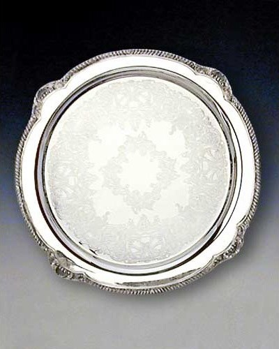 Reed & Barton Round Serving Platter traditional-serving-dishes-and-platters