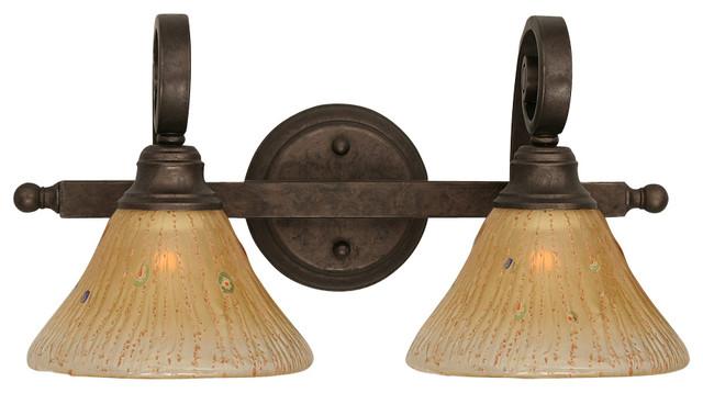 Toltec 152-Brz-750 Bronze Finish 2-Light Bath Bar transitional-bathroom-vanity-lighting