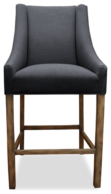 Park Linen Upholstered Stool Charcoal Bar Height  : modern bar stools and counter stools from houzz.com size 368 x 640 jpeg 37kB
