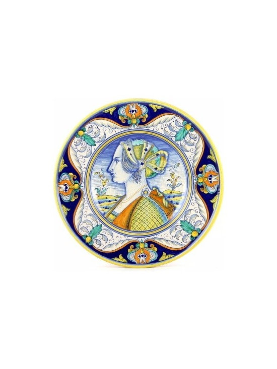 Artistica - Hand Made in Italy - Umberto: Wall Plate with Noblewoman Profile (Medium) (12d.) - Umberto Collection: