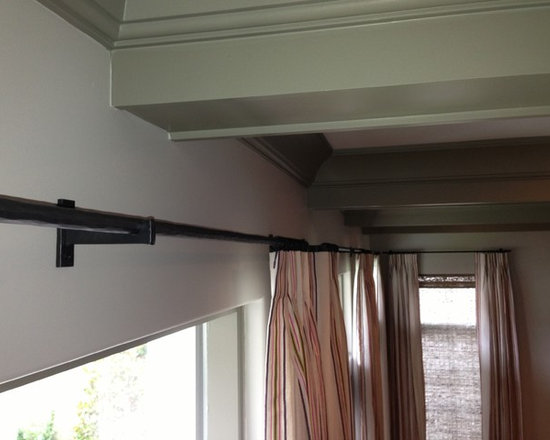 Hardware - These are custom made wrought iron brackets and poles.  Simply beautiful.