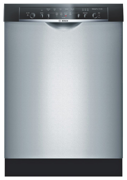 """Bosch Ascenta Series 24"""" Recessed Handle Dishwasher, Stainless 