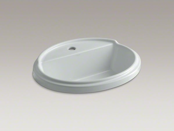 KOHLER Tresham(R) oval drop-in bathroom sink with single faucet hole contemporary-bathroom-sinks