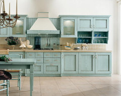 What to pair with Duck-Egg Blue kitchen cabinets?