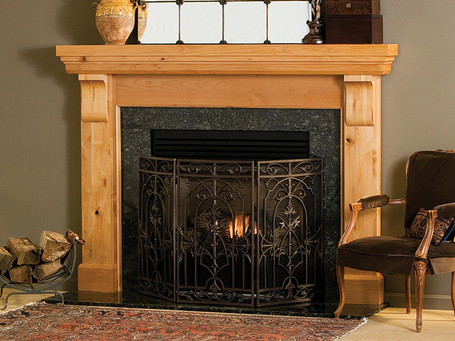 Lancaster Wood Fireplace Mantel - traditional - fireplaces - other ...