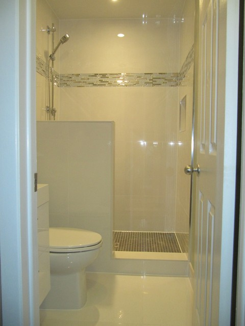 Full Bathroom In Small Area Contemporary Bathroom Toronto on small half bath layout