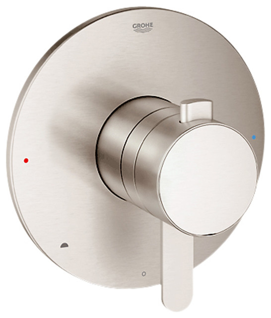 Grohe 19881EN0 Cosmopolitan 2-Function Pressure Balance Trim, Brushed Nickel traditional-bath-products