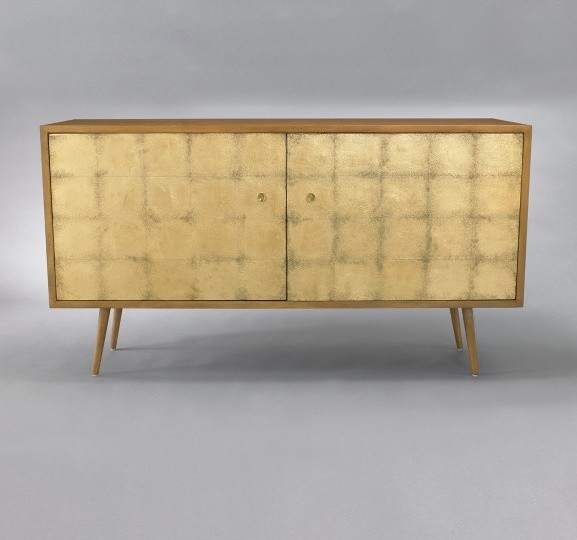 Franklin Media Cabinet - Gold Leaf -buffets-and-sideboards