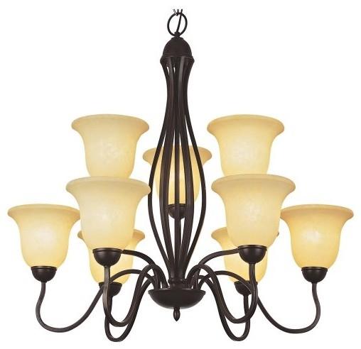 Bel Air Hoyt 9 Light 2 Tier Chandelier contemporary-chandeliers