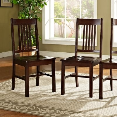 Plymouth 2-Piece Solid Wood Dining Chairs - Cappuccino - modern